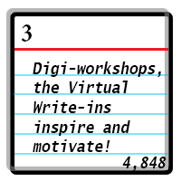 Day 3: Digi-workshops, the Virtual Write-ins inspire and motivate! Word Count 4848.